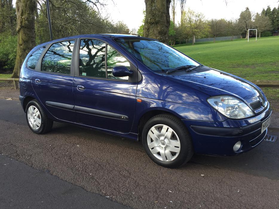 2003 renault scenic megane 1 6 blue mpv people carrier willenhall wolverhampton. Black Bedroom Furniture Sets. Home Design Ideas