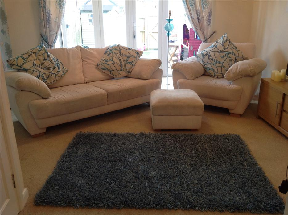 Harveys Sofa 3 Seater Armchair And Footstool Inc Next Rug