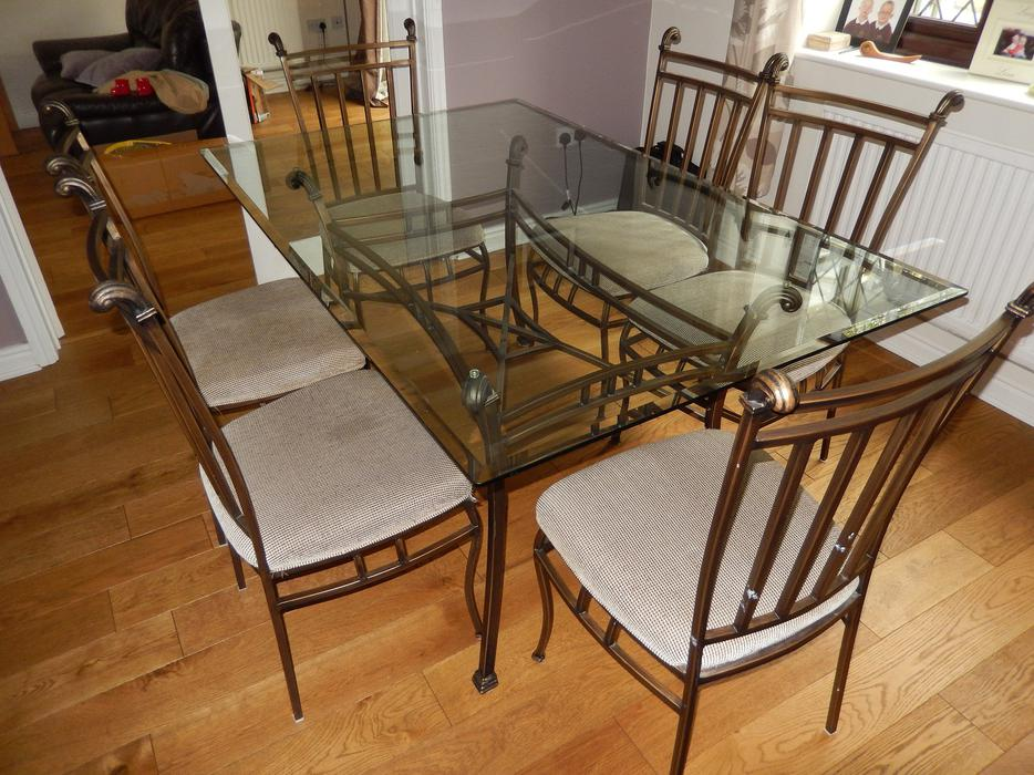 Large Glass Dining Table amp 6 Chairs WALSALL Wolverhampton : 104249061934 from www.usedwolverhampton.co.uk size 934 x 700 jpeg 120kB