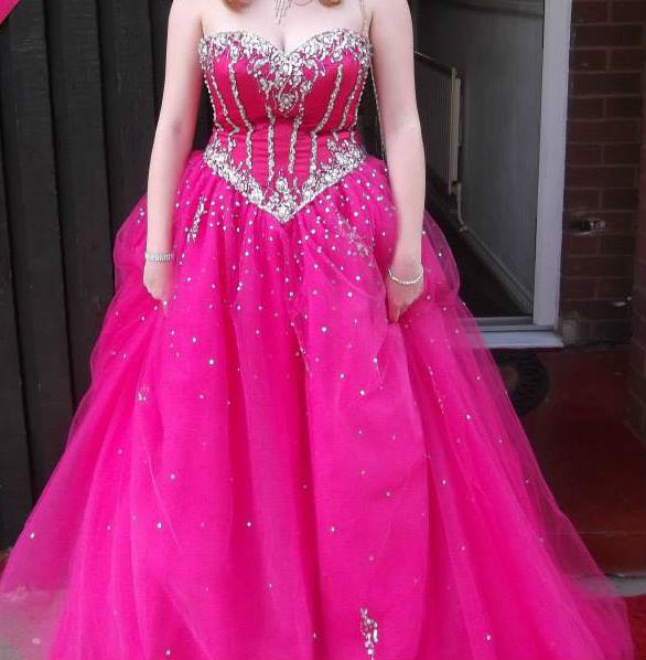 Mori Lee Cerise Pink Prom Or Bridesmaid Dress Other Dudley