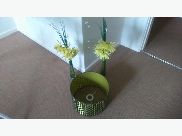 green flowers and lamp light shade walsall dudley. Black Bedroom Furniture Sets. Home Design Ideas
