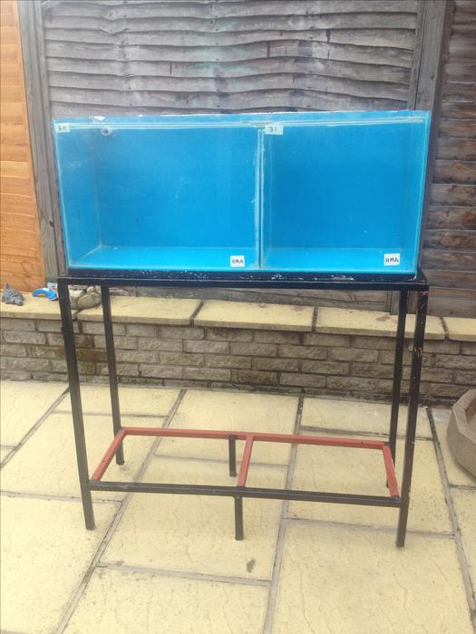 Fish tank on double metal stand brierley hill wolverhampton for Double fish tank stand