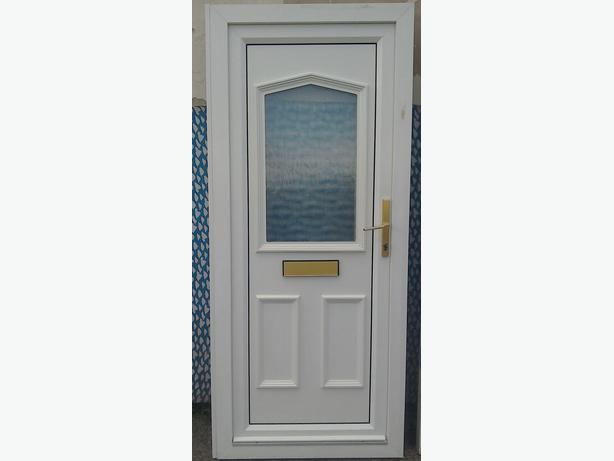 Upvc front or back door plus frame key sandwell wolverhampton for Back door and frame set