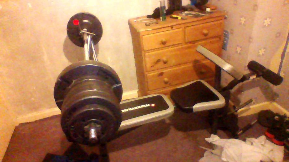 £40, maximuscle weight bench with weights WOLVERHAMPTON ...