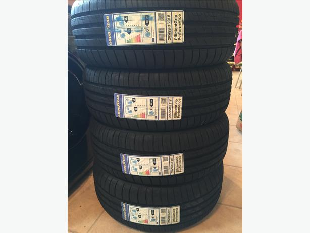 4x goodyear efficientgrip performance 205 55 r16 91v set of four tyres darlaston sandwell. Black Bedroom Furniture Sets. Home Design Ideas