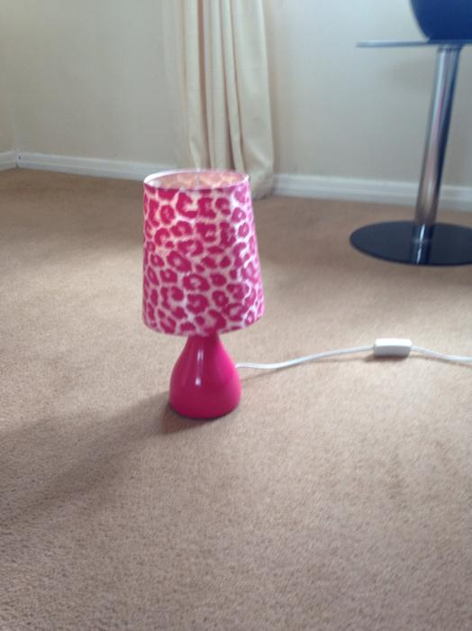 Pink Bedside Table Lamp Willenhall Dudley