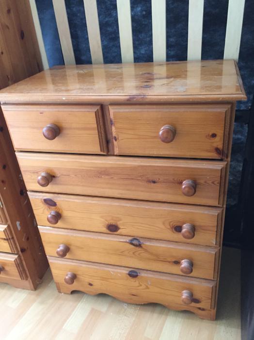 Used Bedroom Furniture For Sale On Ebay: Pine Bedroom Furniture Tipton, Wolverhampton