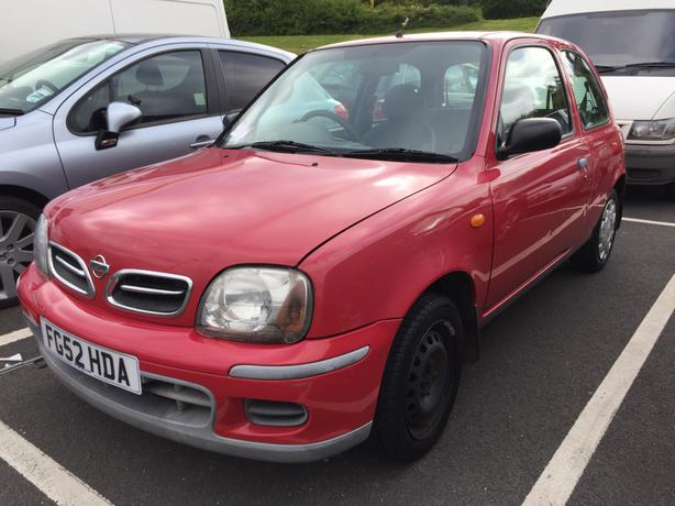 2002 nissan micra 1 0 3 door red wolverhampton dudley. Black Bedroom Furniture Sets. Home Design Ideas