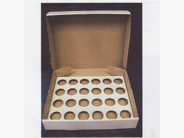 CUP CAKE BOX. HOLDS 24 CUP CAKES. X 6