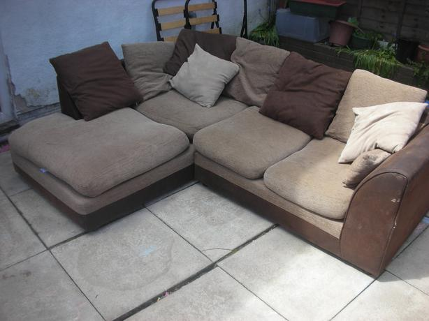 Suede leather corner sofa for sale dudley wolverhampton for Suede couches for sale