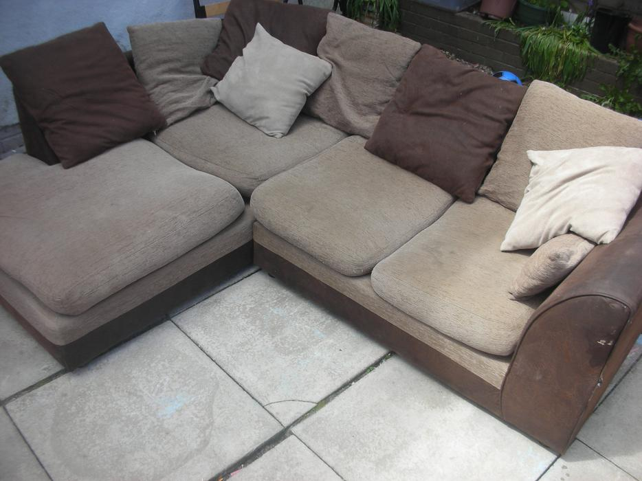 Suede leather corner sofa for sale dudley dudley for Suede couches for sale