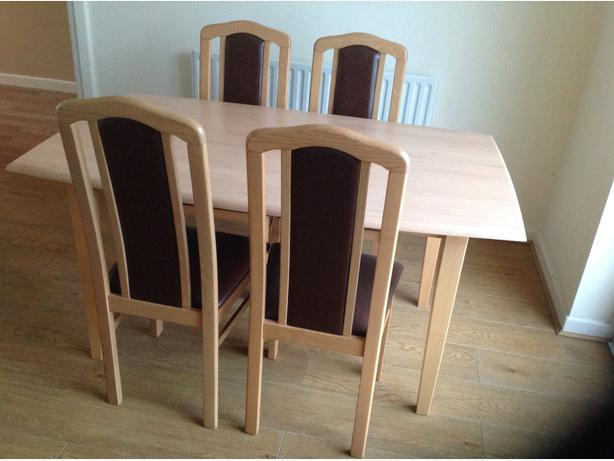 beech dining room furniture | Beech Dining room table and 4 chairs. Coseley, Wolverhampton