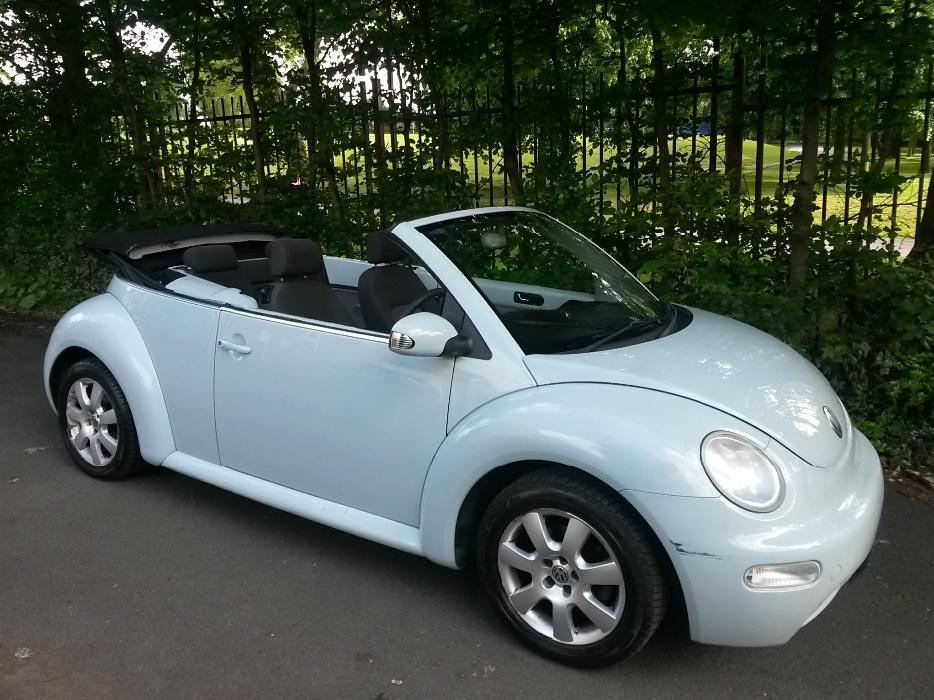 2005 Vw Beetle Cabriolet Convertible 1 4 In Rare Baby Blue