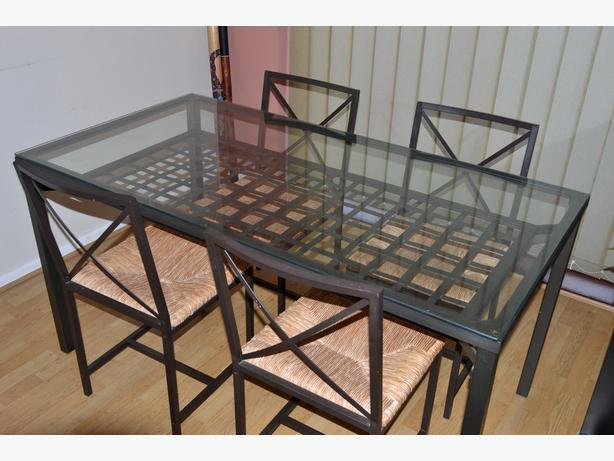 Ikea 39 granas 39 dining set table 4 chairs wolverhampton for Table ikea 4 99