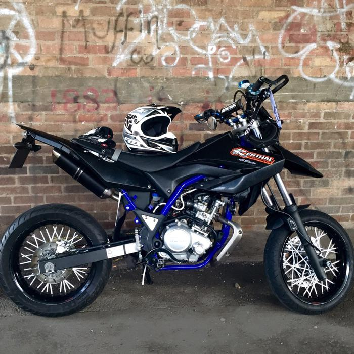 mint custom yamaha wr125x wr 125x supermoto walsall dudley. Black Bedroom Furniture Sets. Home Design Ideas