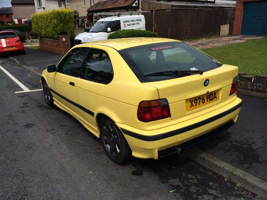 rare dakar yellow bmw 318ti msport compact vauxhall seat skoda audi swap sell stourbridge. Black Bedroom Furniture Sets. Home Design Ideas