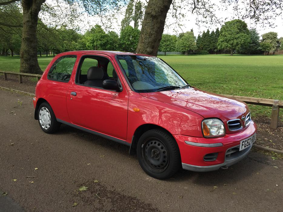 2002 nissan micra 1 0 3 door red cheap runner. Black Bedroom Furniture Sets. Home Design Ideas