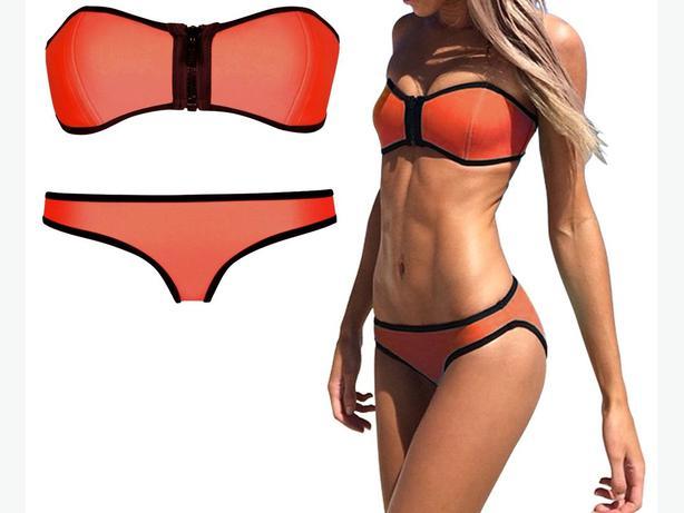 NEW  zip bikini  size L