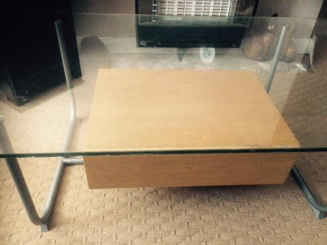 Glass coffee table harborne birmingham Used glass coffee table