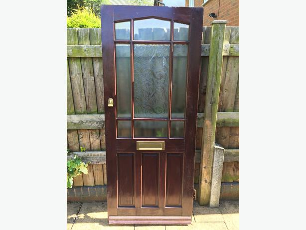 Solid wood exterior front door walsall wolverhampton for Solid wood exterior doors for sale