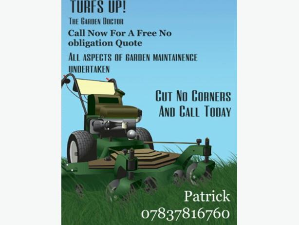 Turfs up! Gardening services.