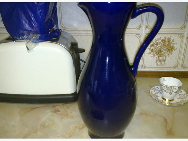 large blue jug