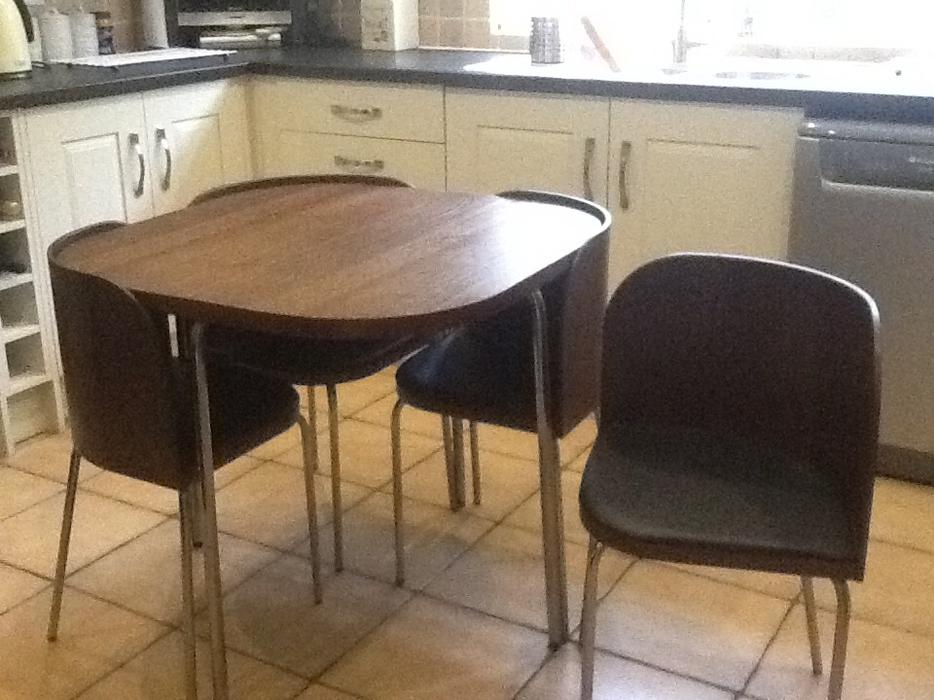 Ikea fusion space saving table chairs kitchen dining room walsall wolverhampton - Space saving dining table ikea ...