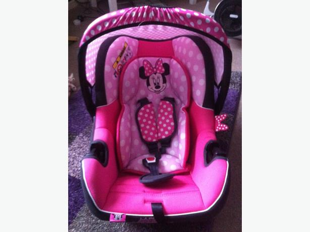 Minnie Mouse Baby Girl Car Seat