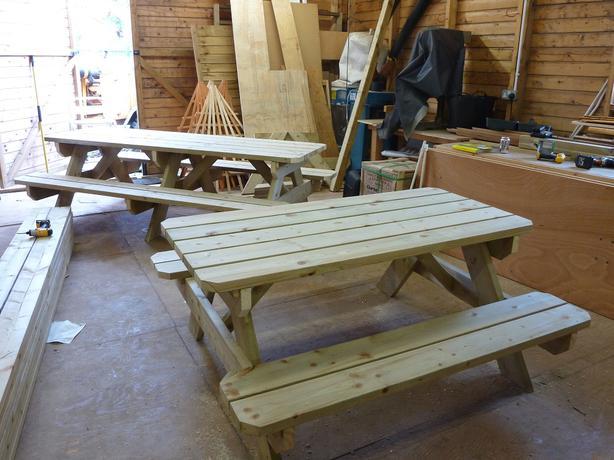 New Hand Made 8ft Garden Picnic Bench