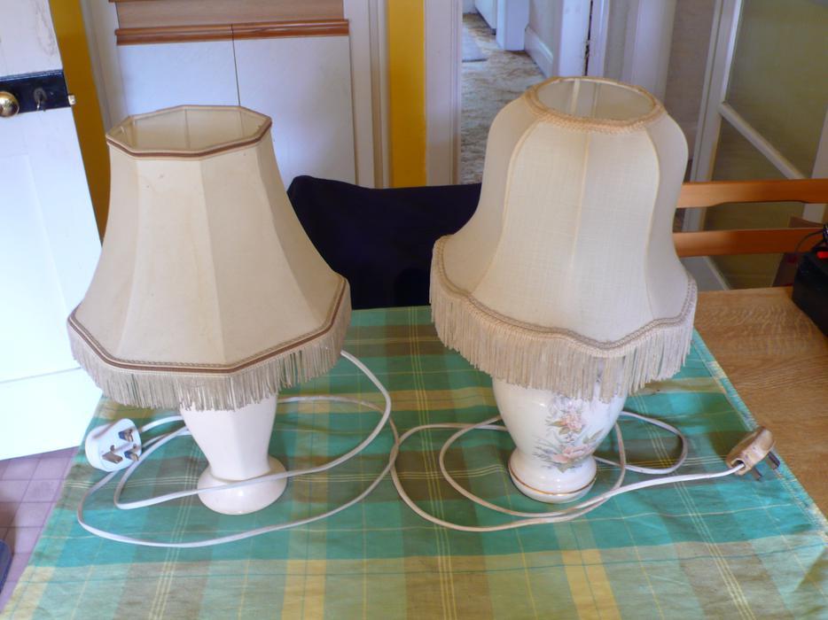 TWO ELECTRIC TABLE LAMPS WOLVERHAMPTON Wolverhampton