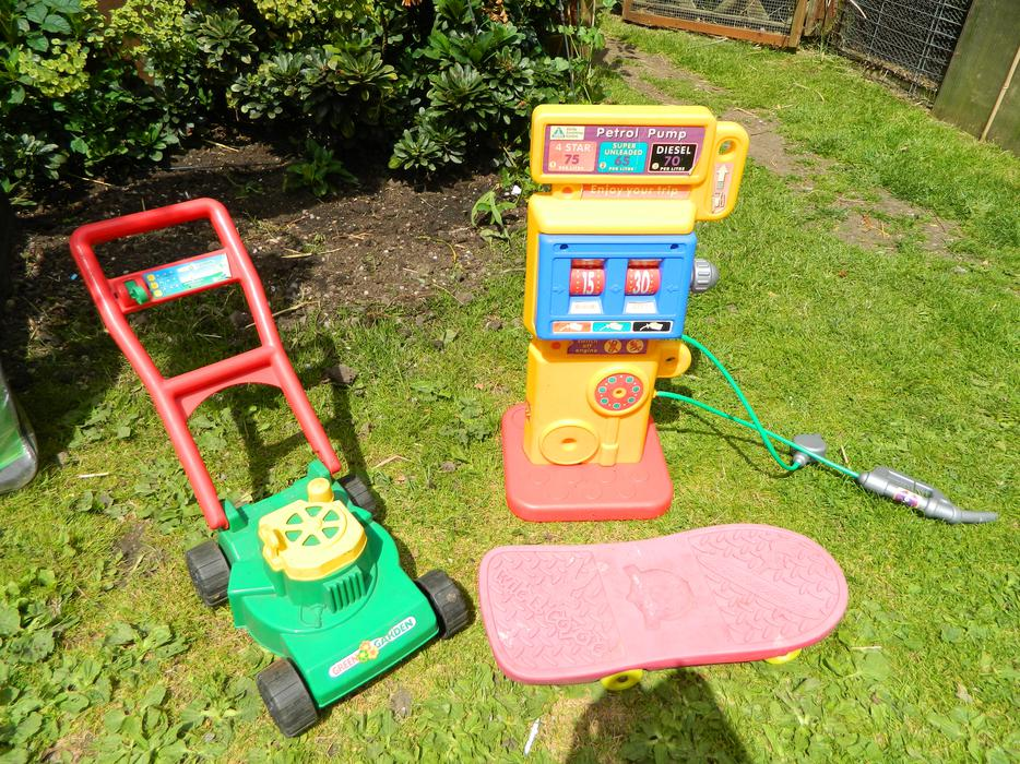 Used Yard Toys : Toy petrol pump and lawn mower oldbury dudley