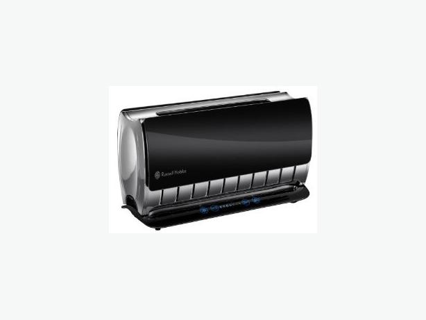 russell hobbs black wide long slot glass touch toaster 2 slice 18366 tipton dudley. Black Bedroom Furniture Sets. Home Design Ideas