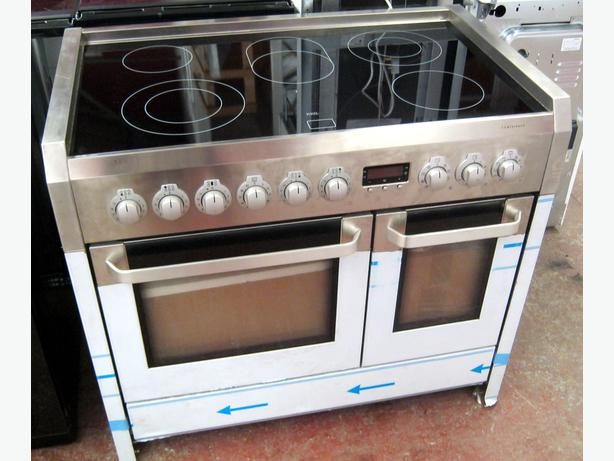 Aeg Electrolux C41022vm 100cm Electric Double Oven Range Cooker With