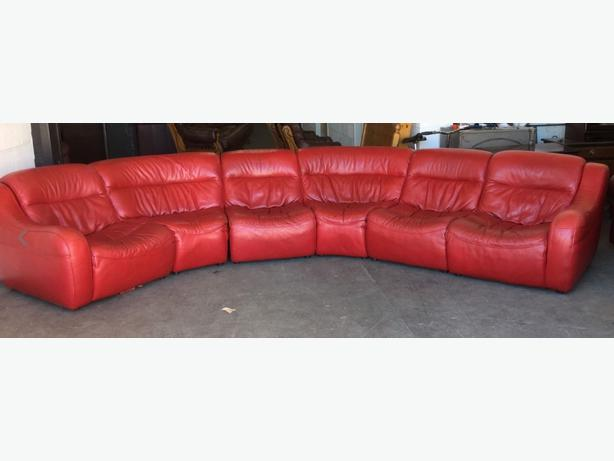  Log In needed £599 · £3000 DFS Zara Red Leather Modular 3pc Corner Sofa  WE DELIVER UK WIDE