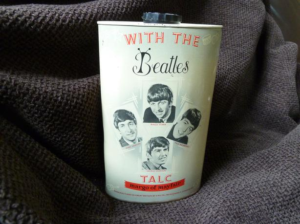 THE BEATLES 1963 MARGO OF MAYFAIR TALC TIN