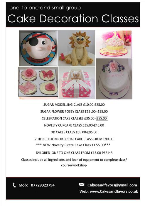 Local Cake Decorating And Sugarcraft Classes : Cake Decoration and Sugarcraft Classes WALSALL, Sandwell