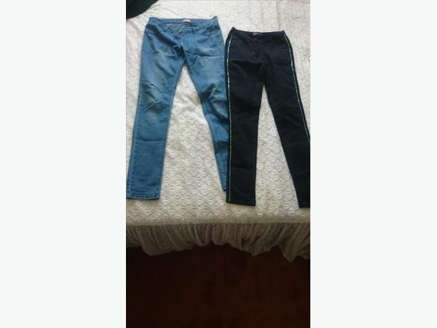 x2 jeggings size 8 both  pairs for £5