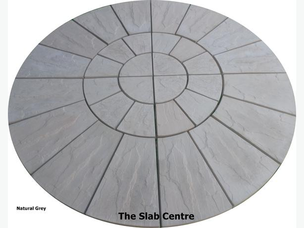 1.8 metre grey riven rotunda patio circle