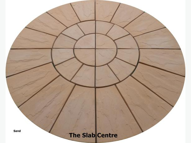 1.8 metre  sand riven rotunda patio circle