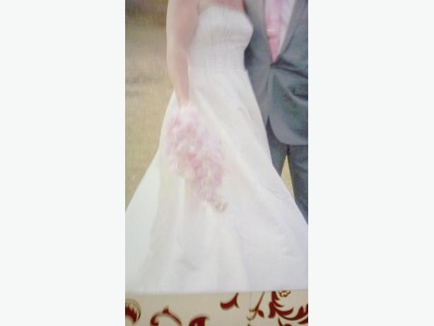 stunning ivory& silver wedding dress