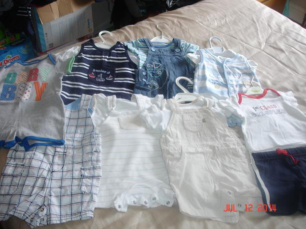 Bundle of boys 0-3 months clothes