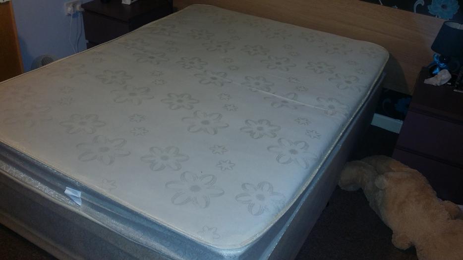 Double divan bed with mattress bloxwich wolverhampton for Divan bed sheet
