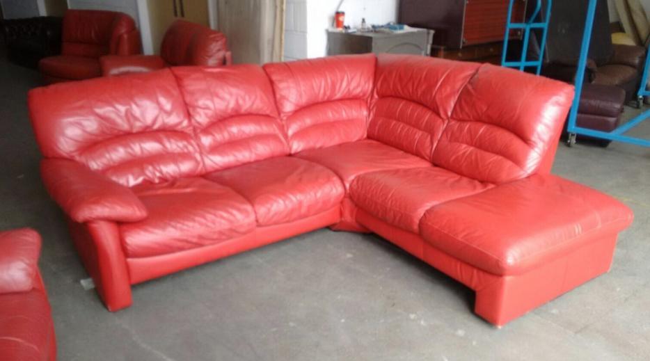 2200 DFS Luxury Red HUGE Corner Sofa Set WE DELIVER UK