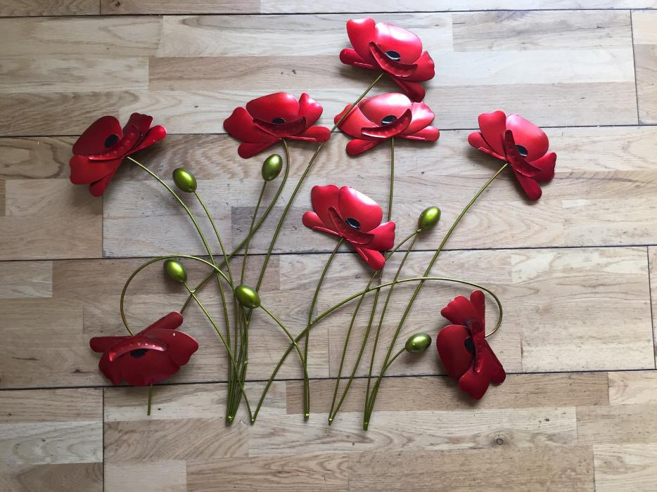 Poppy Metal Wall Art Walsall Sandwell & Poppy Wall Art - Elitflat