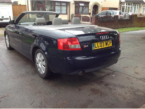2003 audi a4 convertible outside black country region dudley. Black Bedroom Furniture Sets. Home Design Ideas