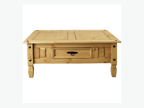 Aruba solid pine coffee table with drawer light bilston dudley Pine coffee table with drawers