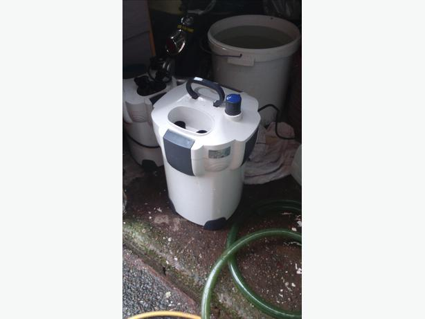 All ponds solution external filter 2000lph with uv for External pond filter system