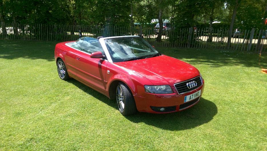 Audi A4 Convertible 1 8t Fsh Red With Red Roof Rare Model