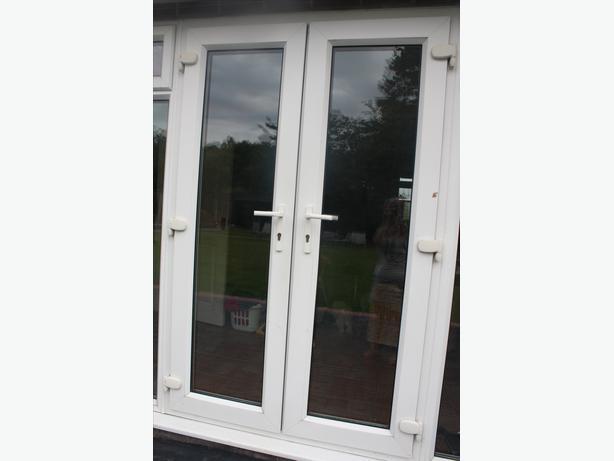 White upvc double french doors halesowen sandwell for White upvc french doors exterior