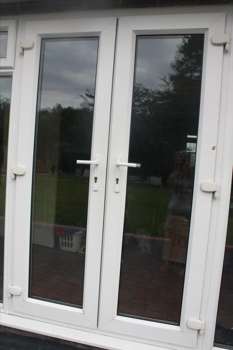 White upvc double french doors halesowen sandwell for White double french doors